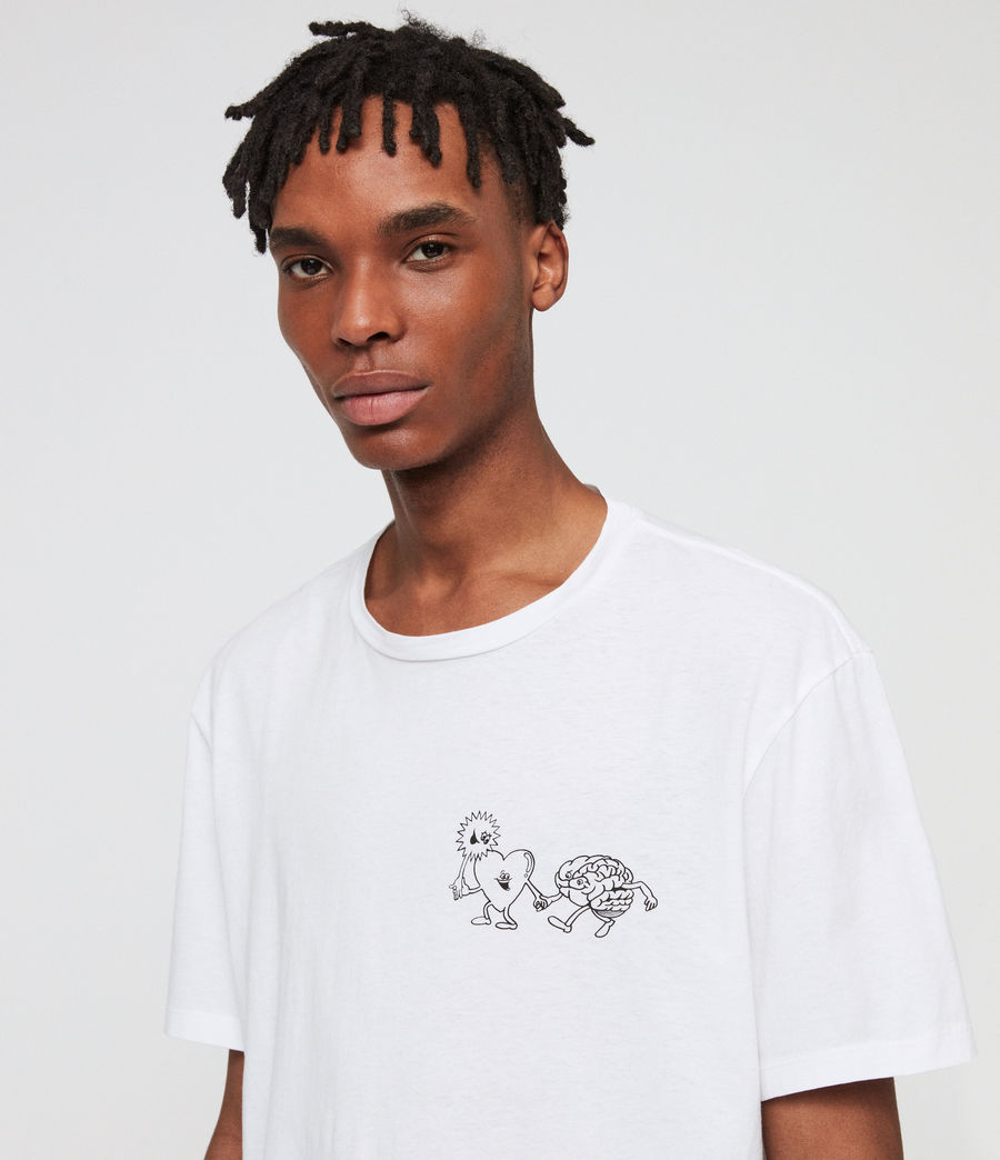 Men's Peeps Crew T-Shirt (optic_white) - Image 2