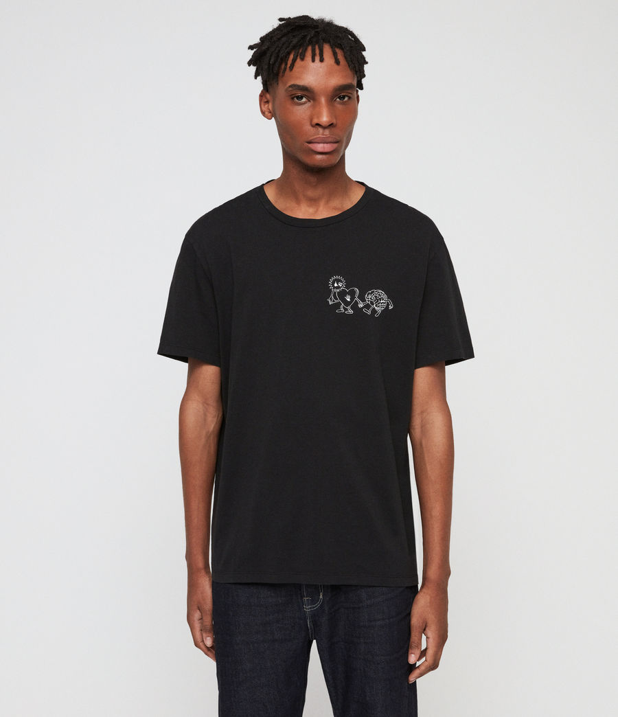 Men's Peeps Crew T-Shirt (jet_black) - Image 1