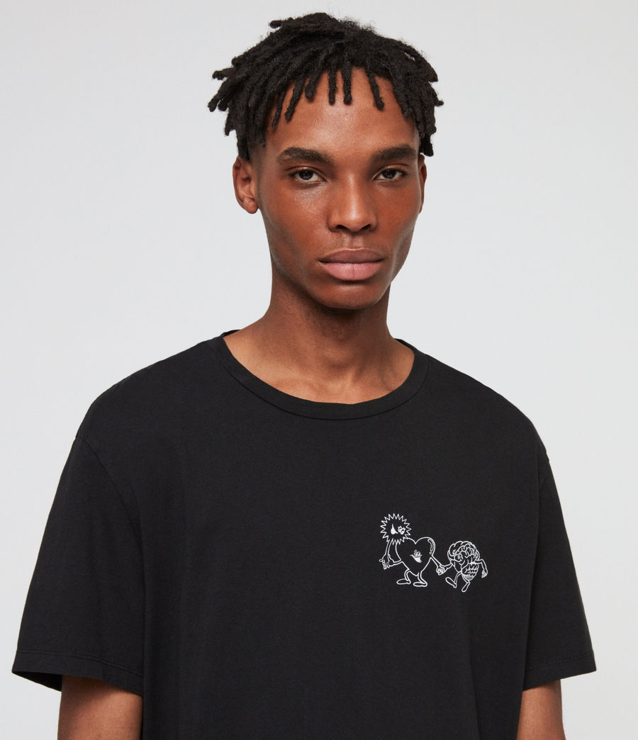 Men's Peeps Crew T-Shirt (jet_black) - Image 2