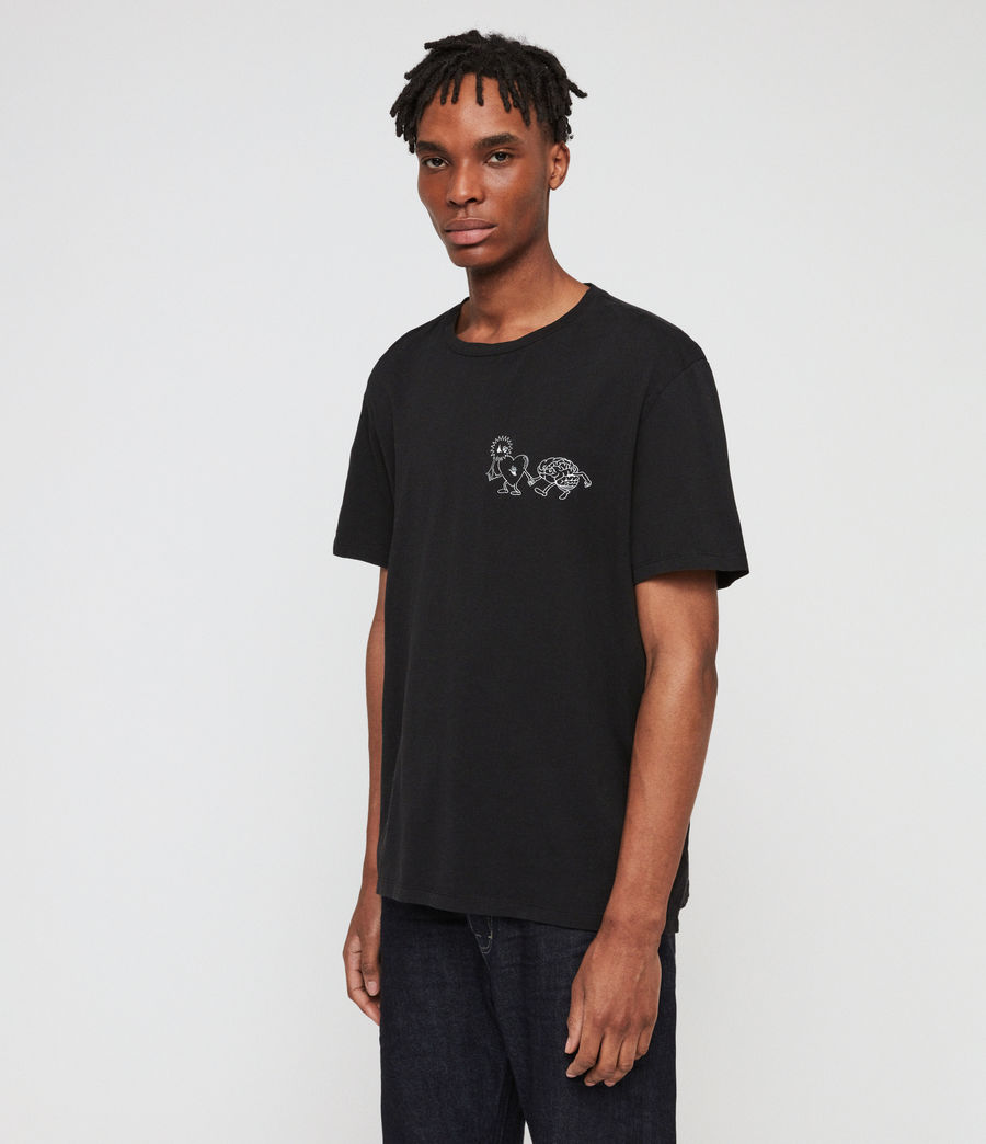 Men's Peeps Crew T-Shirt (jet_black) - Image 3