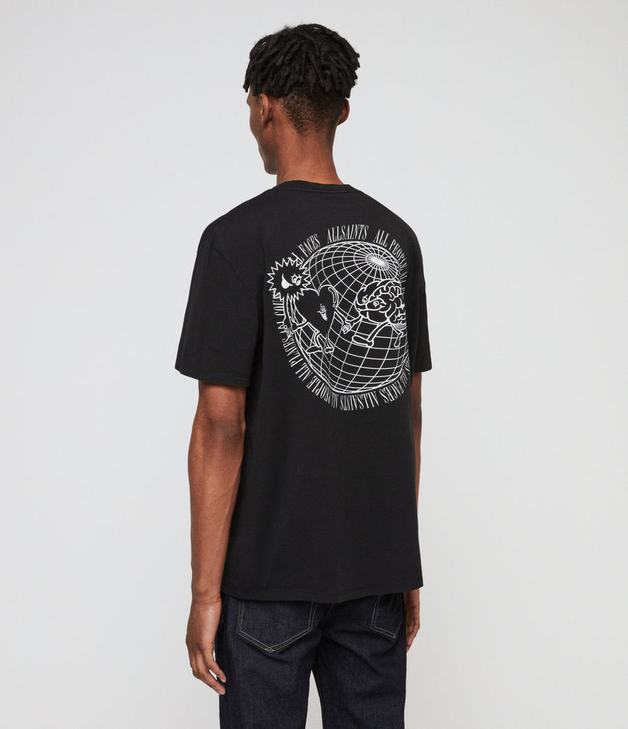 Men's Peeps Crew T-Shirt (jet_black) - Image 4