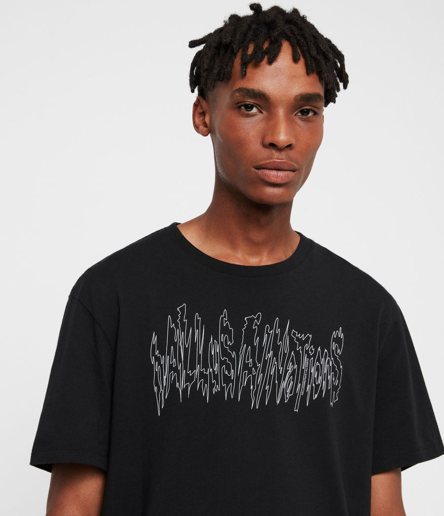 Mens Hallucinations Crew T-Shirt (jet_black) - Image 2