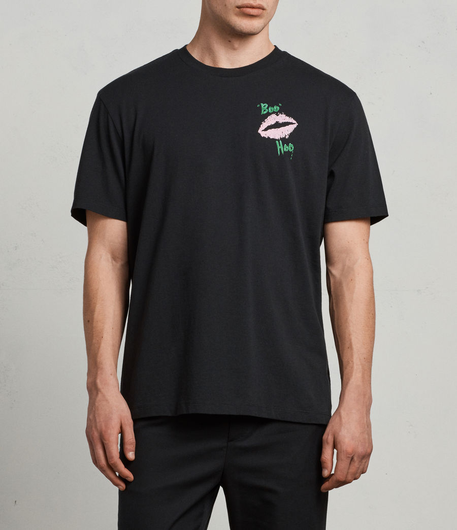 Mens Crying Short Sleeve Crew (jet_black) - Image 1