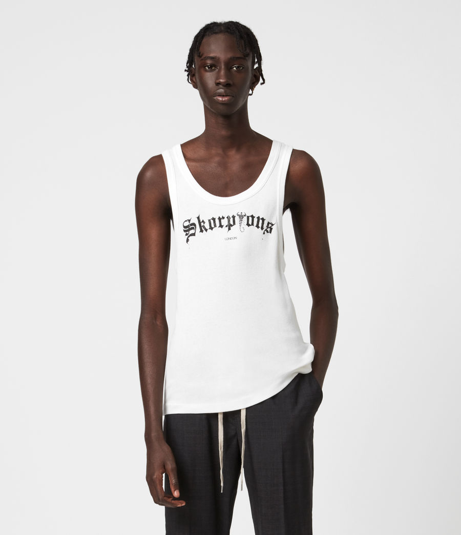 Men's Skorpions London Vest (chalk_wht_jet_blk) - Image 1