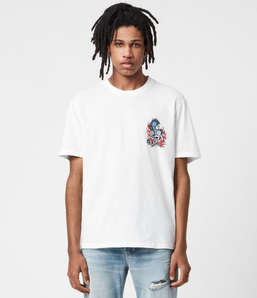 Men's Viper Crew T-Shirt (optic_white) - Image 4