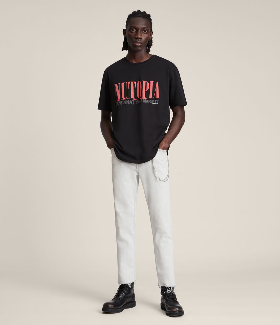 Men's Ninety Crew T-Shirt (jet_black) - Image 4