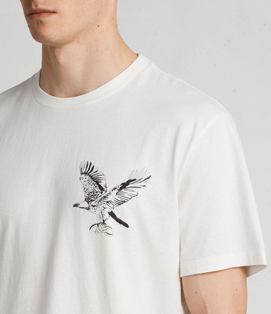 Mens Sunbird Crew T-Shirt (Chalk White) - Image 2