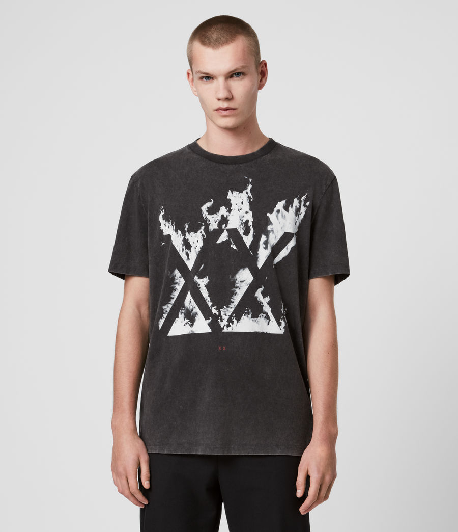 Men's Burn Crew T-Shirt (vintage_black) - Image 1