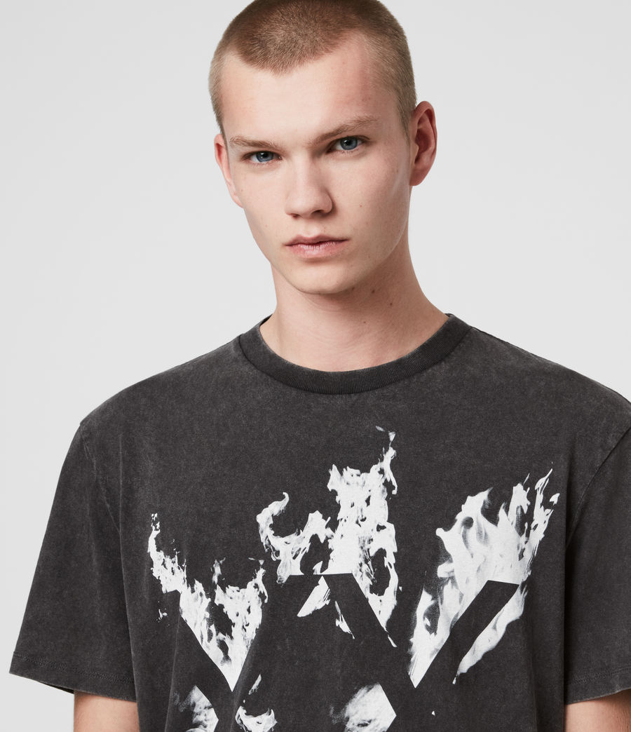 Men's Burn Crew T-Shirt (vintage_black) - Image 2