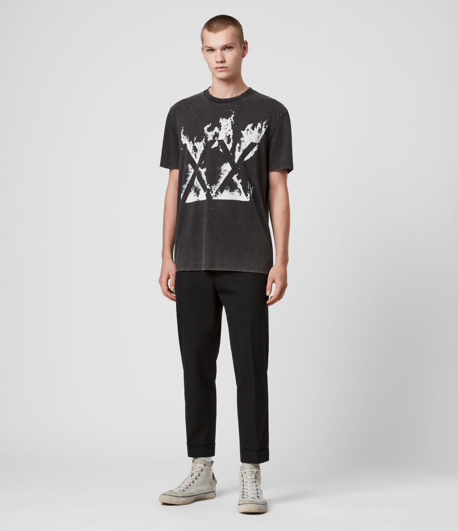 Men's Burn Crew T-Shirt (vintage_black) - Image 3