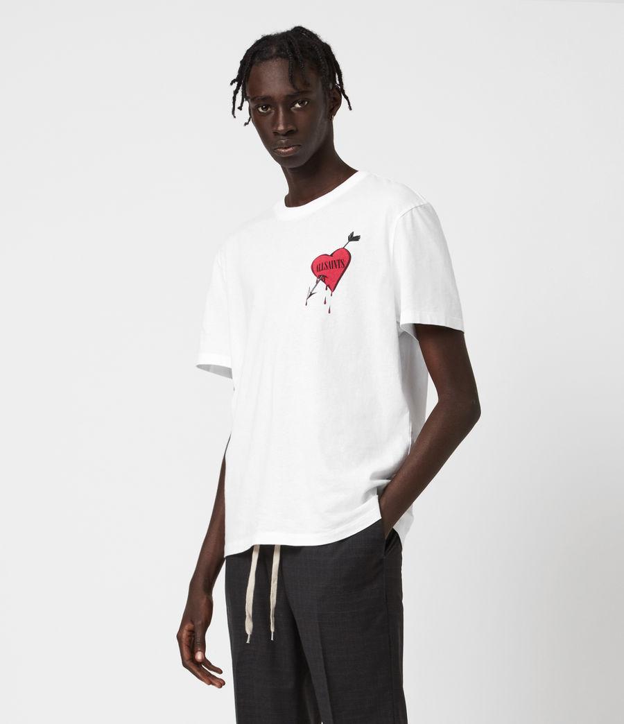 Herren Bleeding Heart T-Shirt (optic_white) - Image 4