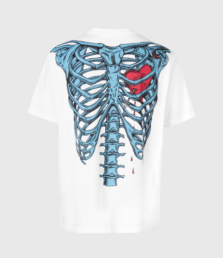 Herren Bleeding Heart T-Shirt (optic_white) - Image 5