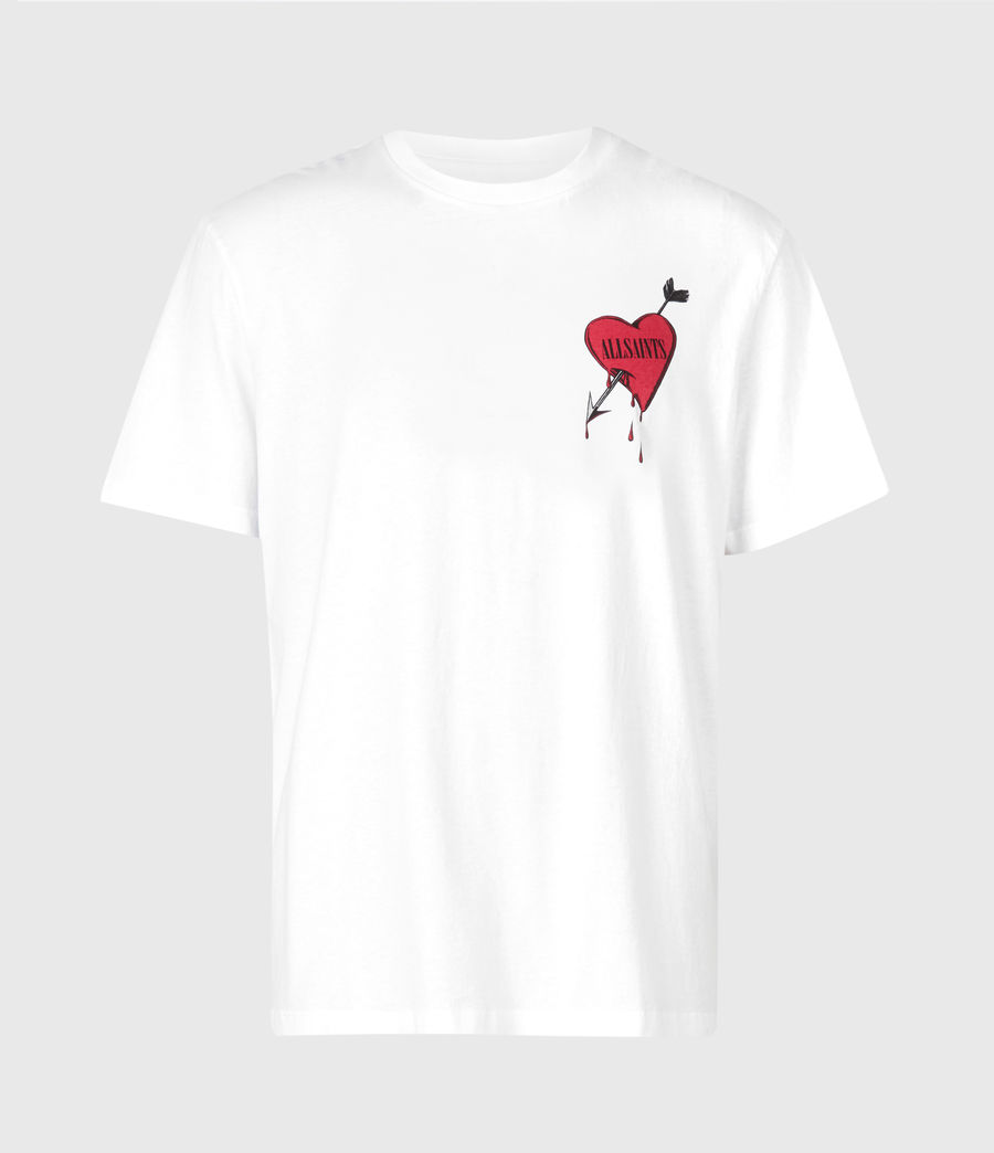 Hommes T-Shirt Bleeding Heart (optic_white) - Image 6