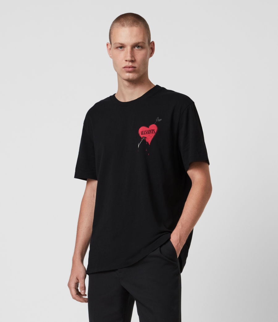 Herren Bleeding Heart T-Shirt (jet_black) - Image 1