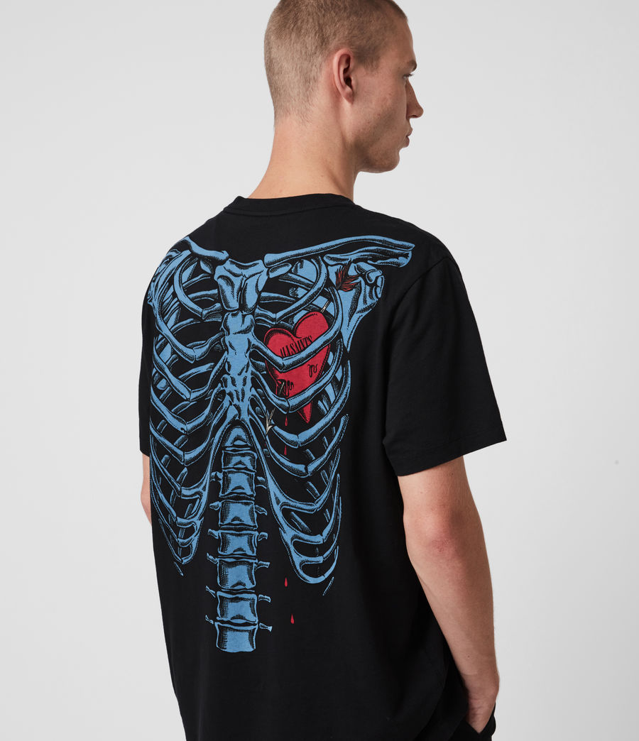 Herren Bleeding Heart T-Shirt (jet_black) - Image 4