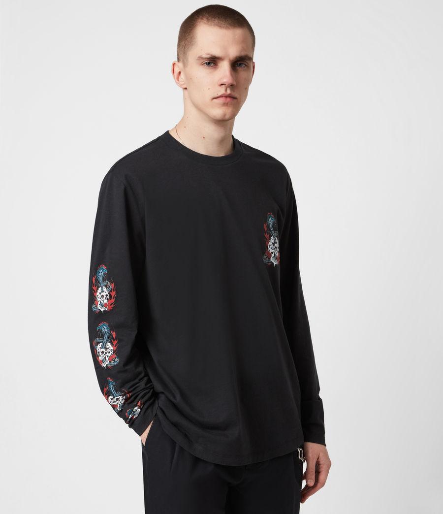 Mens Viper Long Sleeve Crew T-Shirt (jet_black) - Image 1