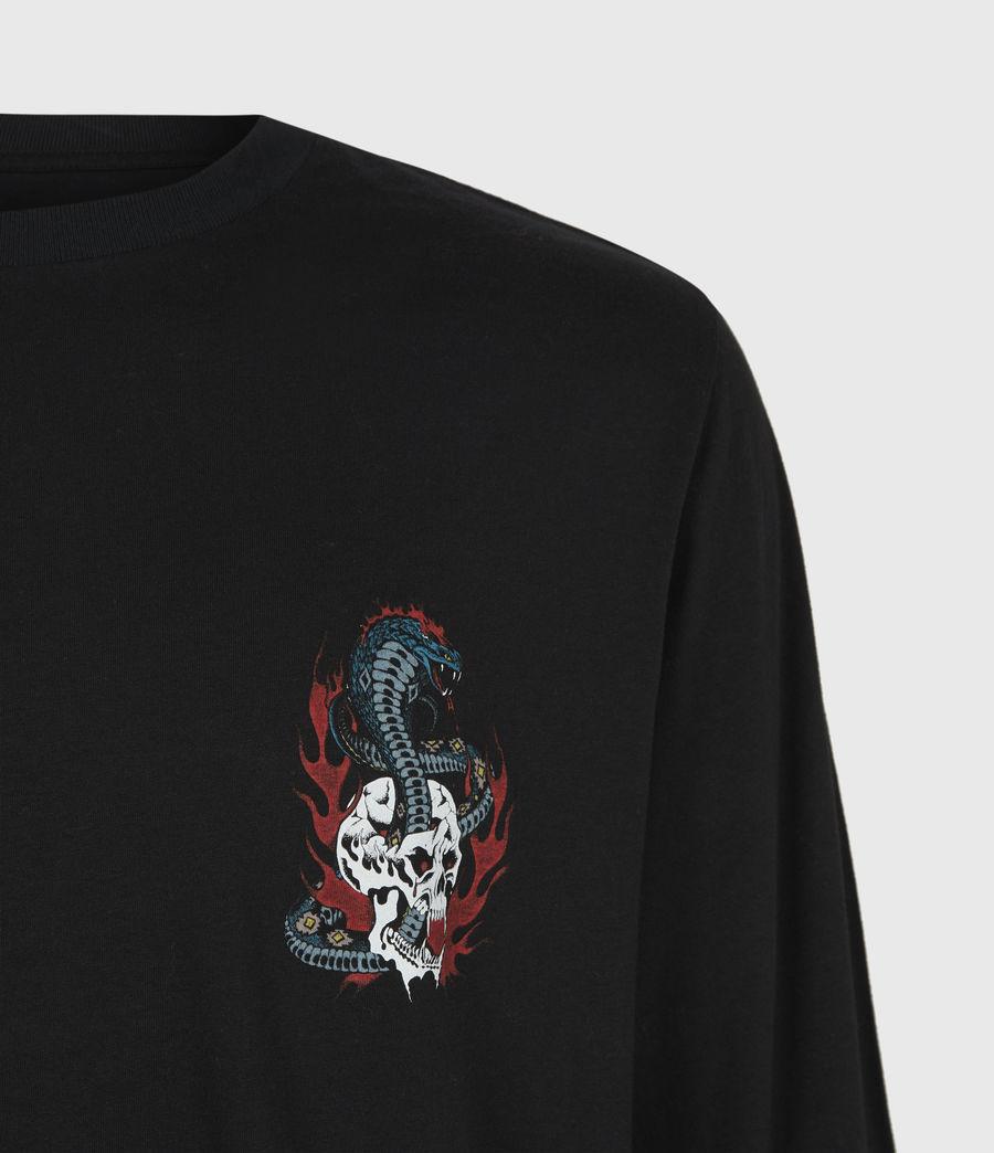 Mens Viper Long Sleeve Crew T-Shirt (jet_black) - Image 5