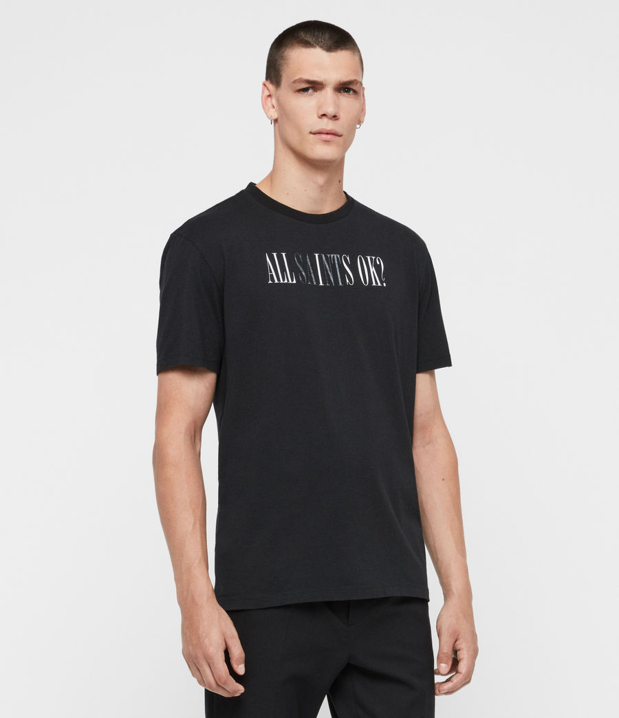 Mens Okay Crew T-Shirt (jet_black) - Image 3