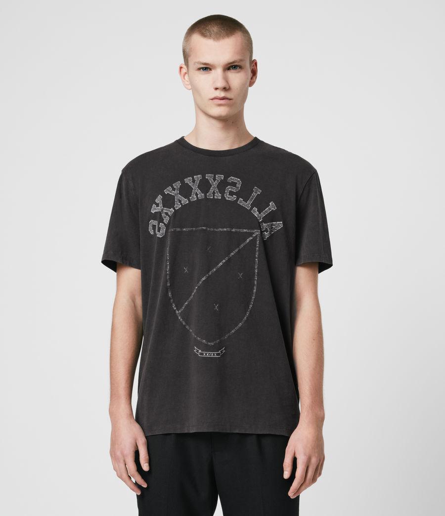 Hombres Shield Crew T-Shirt (vintage_black) - Image 1