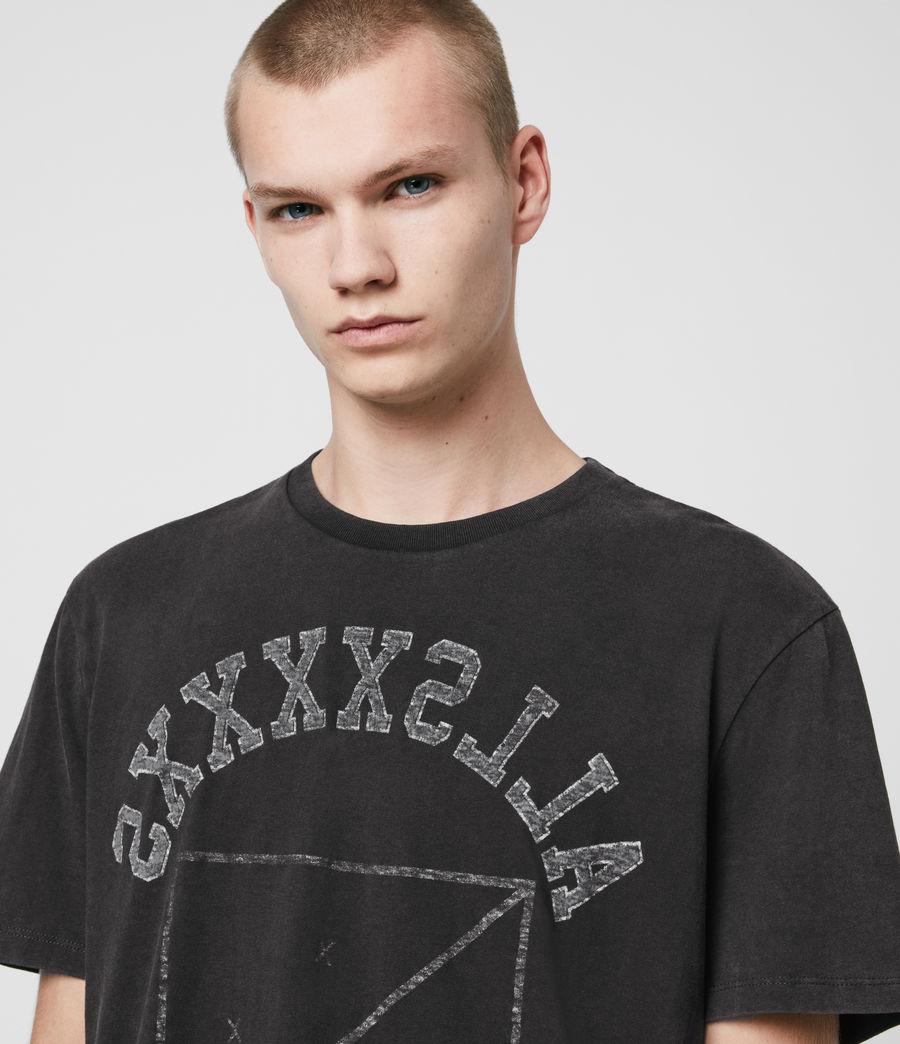 Hombres Shield Crew T-Shirt (vintage_black) - Image 2