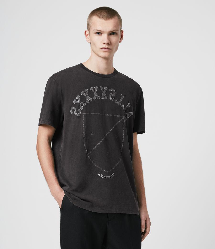 Herren Shield T-Shirt (vintage_black) - Image 1