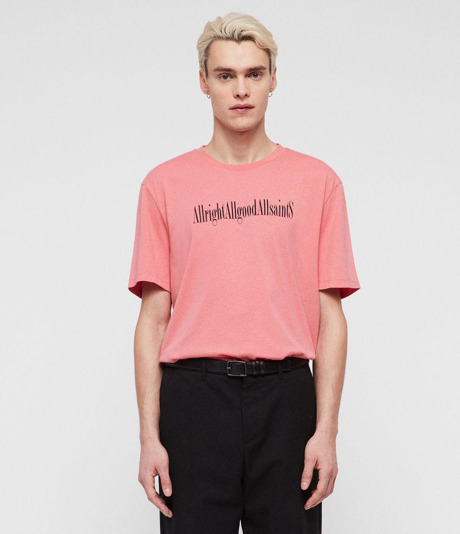 Mens Allgood Crew T-Shirt (sorbet_pink) - Image 1