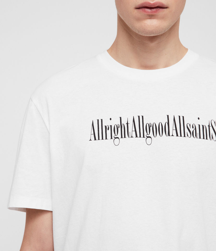 Mens Allgood Crew T-Shirt (optic_white) - Image 2