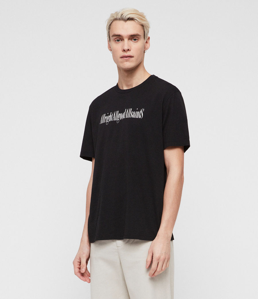 Mens Allgood Crew T-Shirt (jet_black) - Image 2