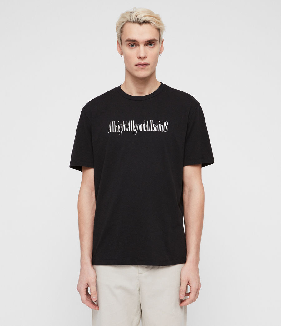 Men's Allgood Crew T-Shirt (jet_black) - Image 3