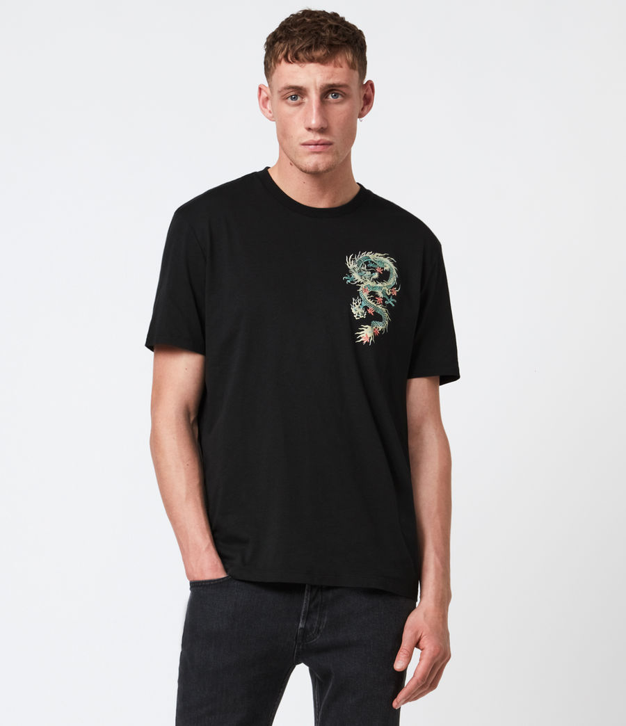 Men's Draak Crew T-Shirt (jet_black) - Image 1