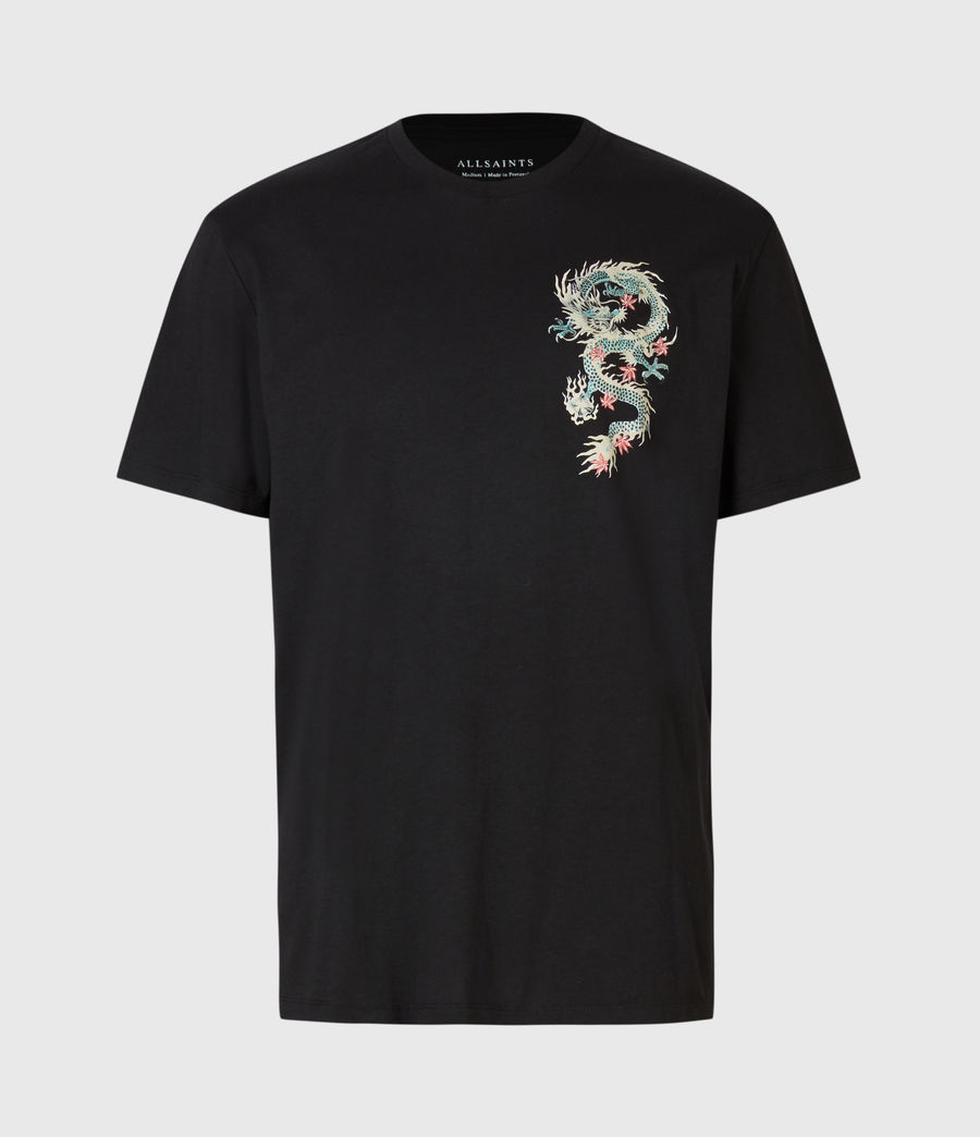 Men's Draak Crew T-Shirt (jet_black) - Image 2