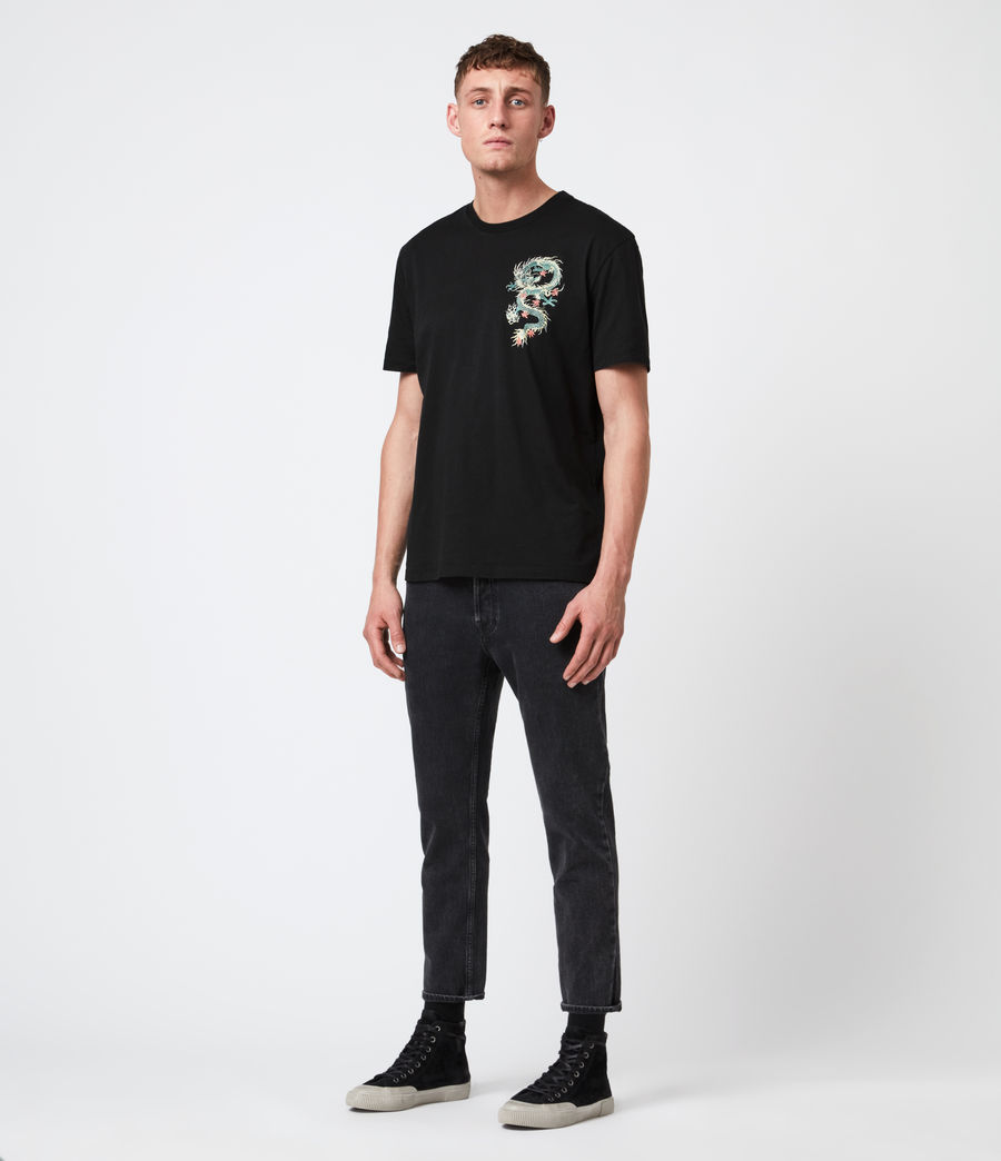 Men's Draak Crew T-Shirt (jet_black) - Image 5