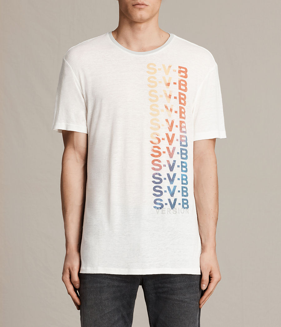Hommes T-shirt Subbed (chalk_white_grey) - Image 1