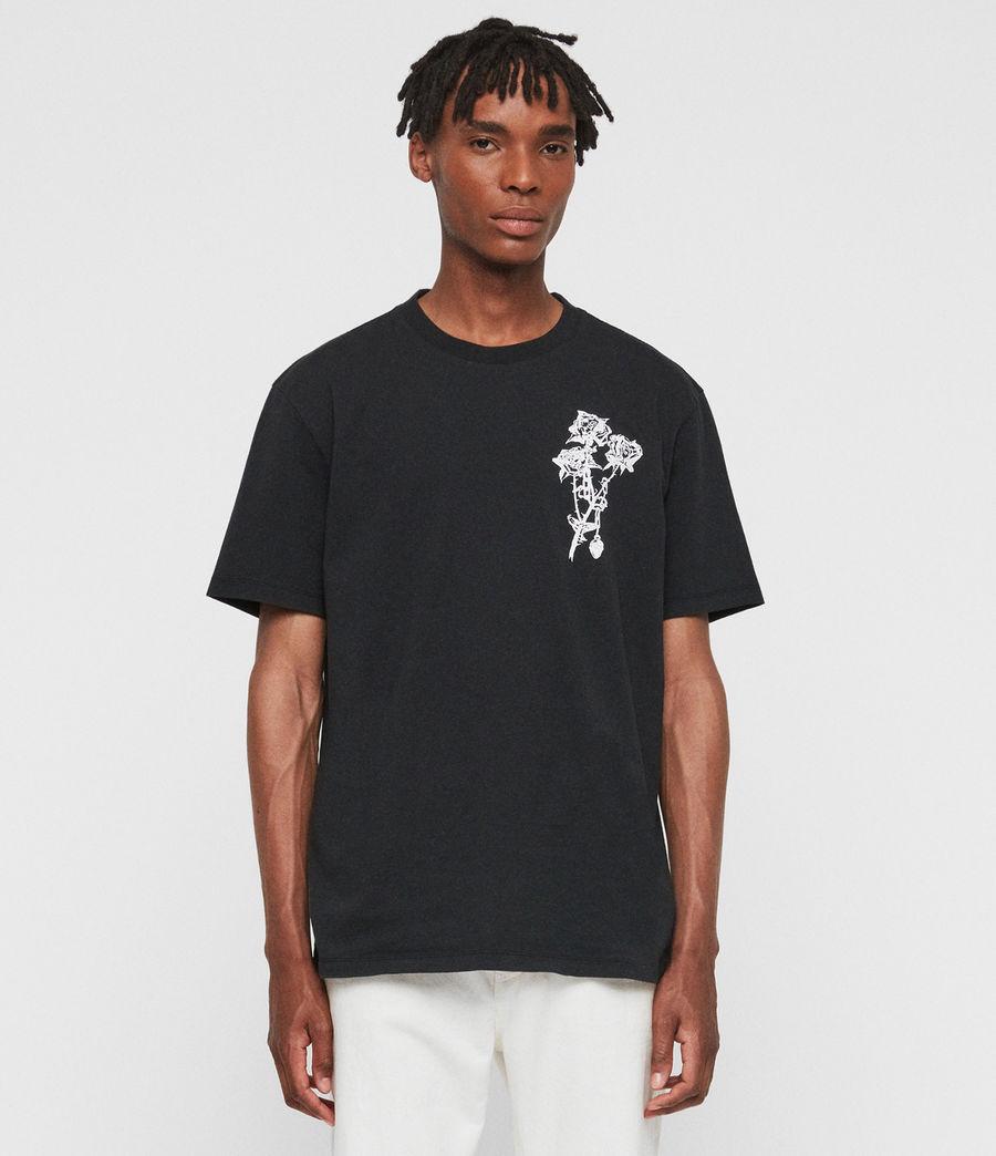 Mens Rowse Crew T-Shirt (jet_black) - Image 1