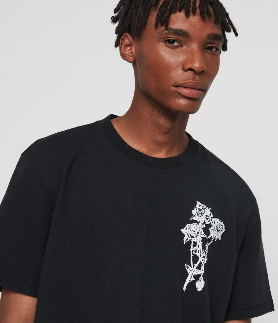Mens Rowse Crew T-Shirt (jet_black) - Image 2