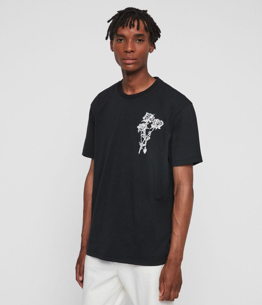 Mens Rowse Crew T-Shirt (jet_black) - Image 3