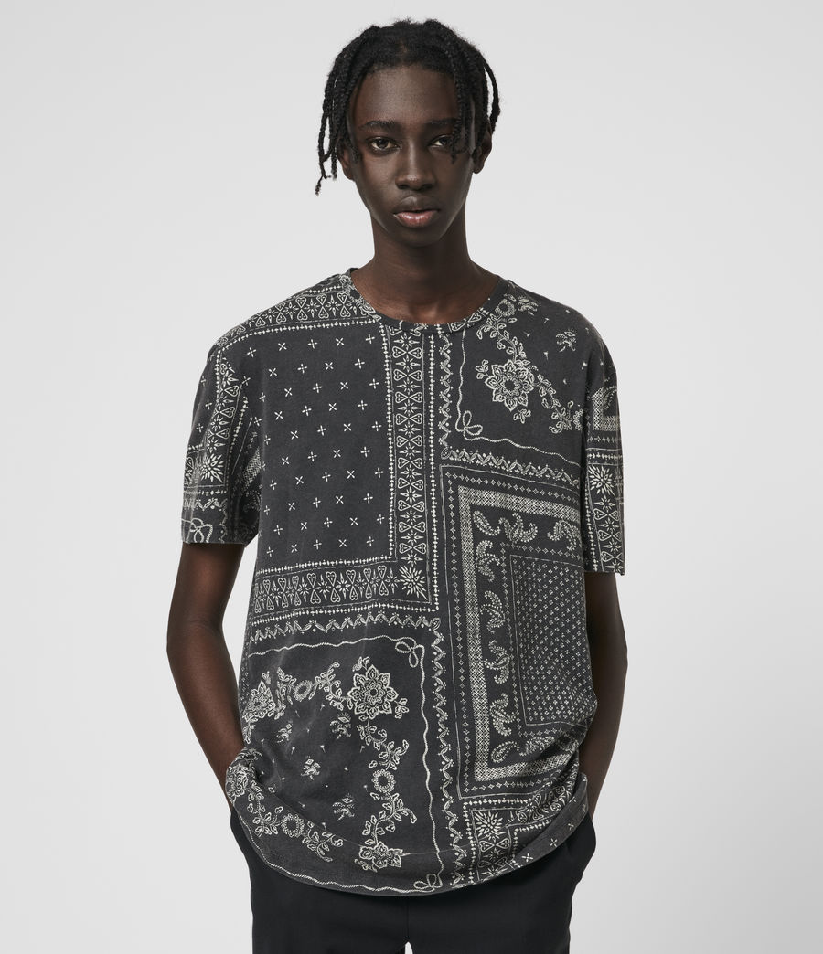 Hombre Bandanax Crew T-Shirt (black) - Image 1