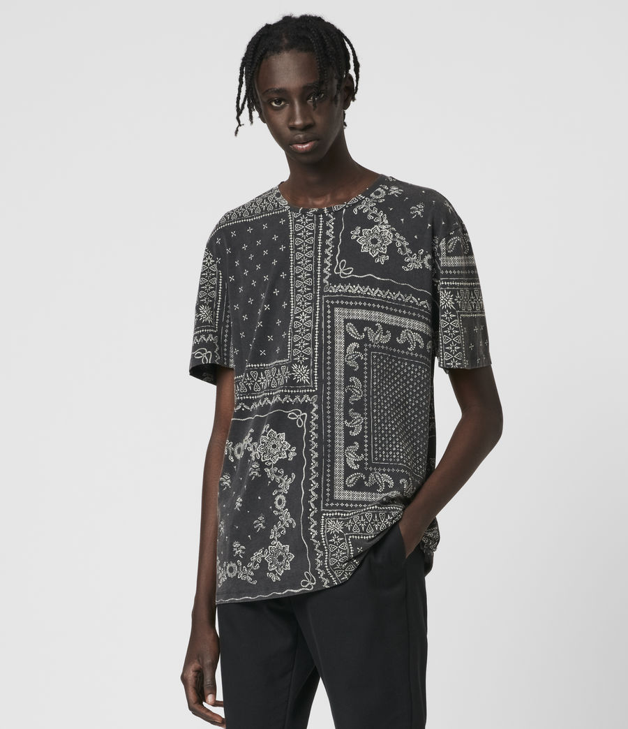 Mens Bandanax Crew T-Shirt (black) - Image 4