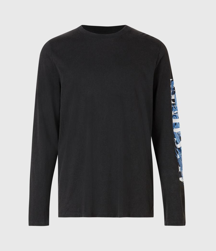 Men's Draco Long Sleeve Crew T-Shirt (vintage_black) - Image 2