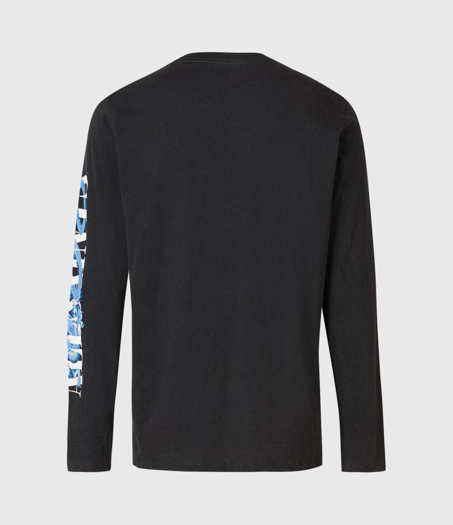 Herren Draco Long Sleeve Crew T-Shirt (vintage_black) - Image 3