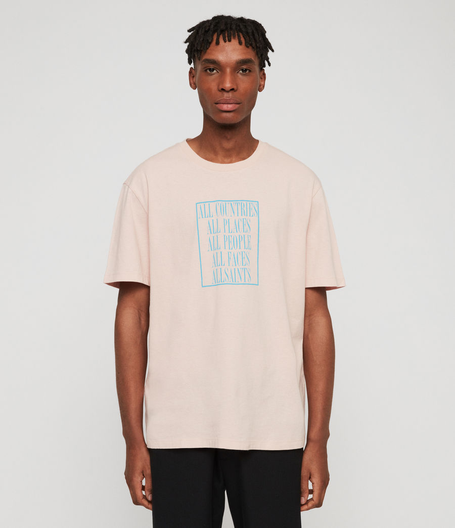 Men's Embrace Crew T-Shirt (bleach_pink) - Image 3
