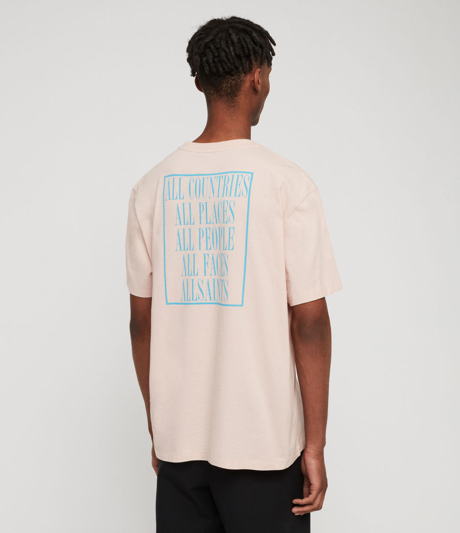 Men's Embrace Crew T-Shirt (bleach_pink) - Image 5
