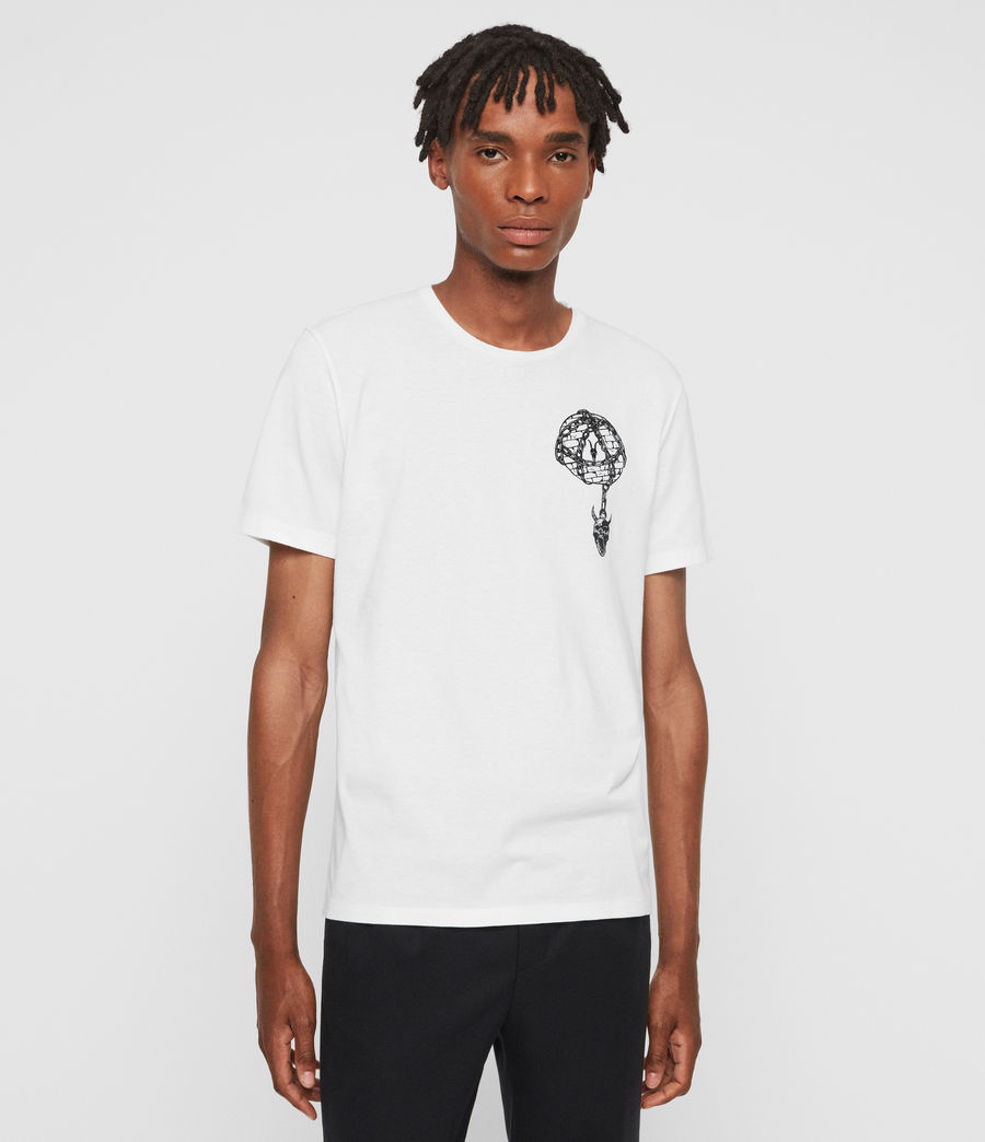 Mens Chained Crew T-Shirt (optic_white) - Image 1