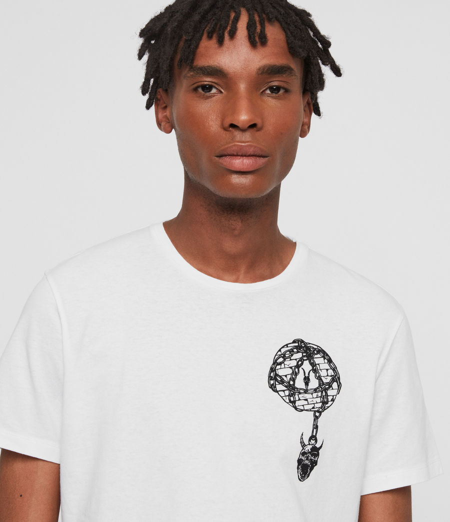 Mens Chained Crew T-Shirt (optic_white) - Image 2