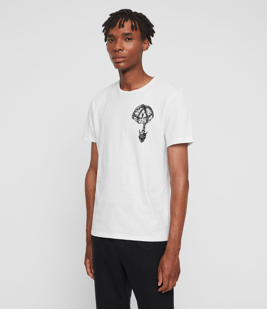 Mens Chained Crew T-Shirt (optic_white) - Image 4