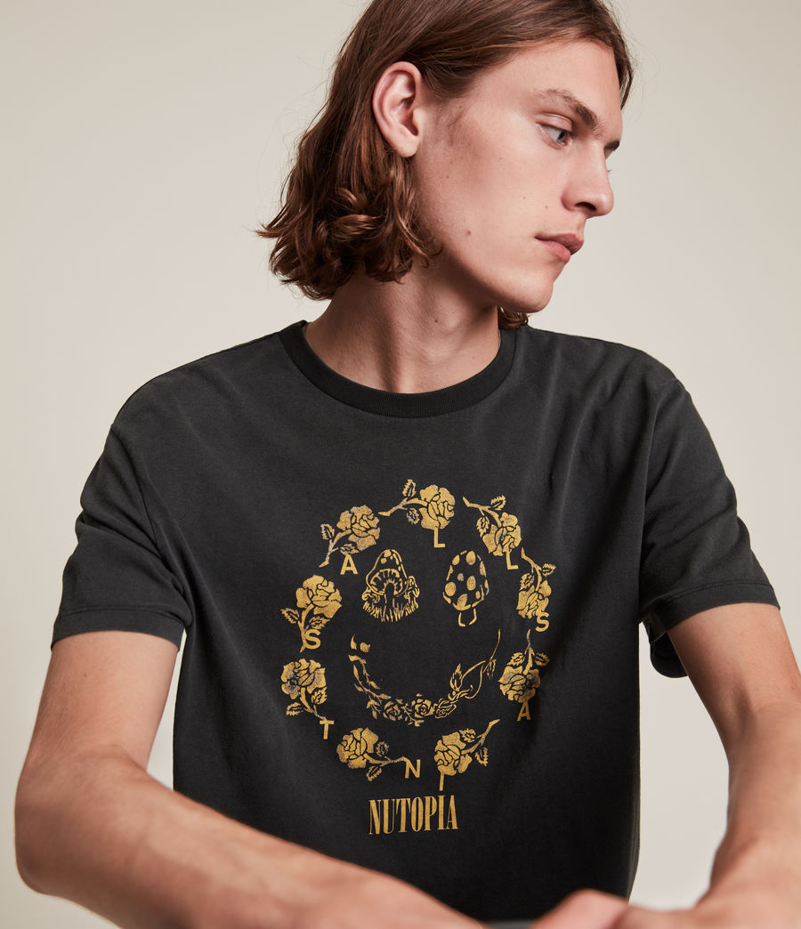 Men's Posie Crew T-Shirt (jet_black) - Image 2