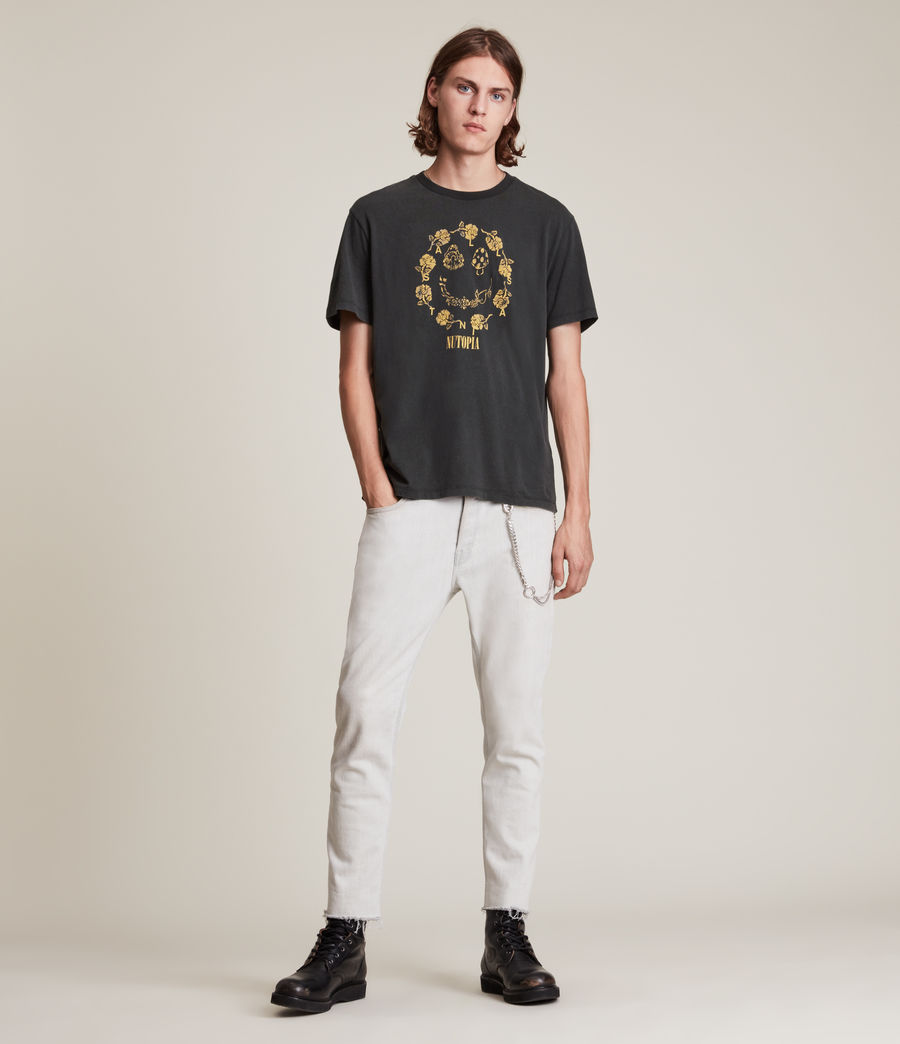 Men's Posie Crew T-Shirt (jet_black) - Image 3