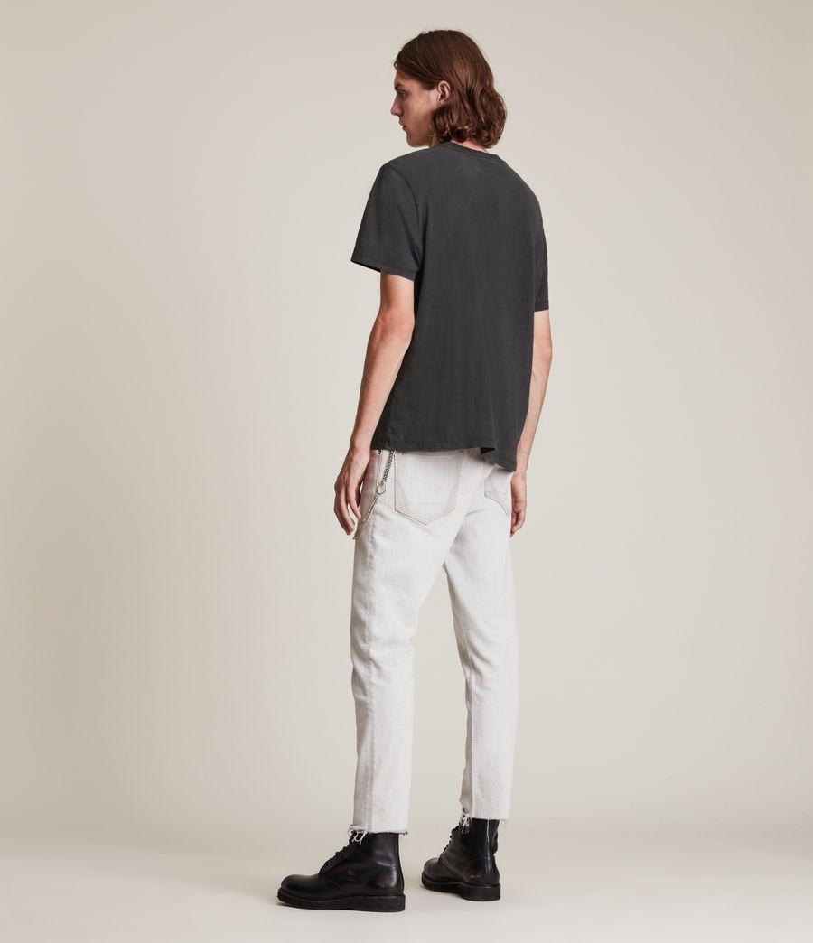 Men's Posie Crew T-Shirt (jet_black) - Image 4