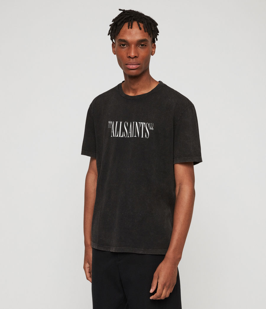Uomo Brackets Crew T-Shirt (acid_washed_black) - Image 1