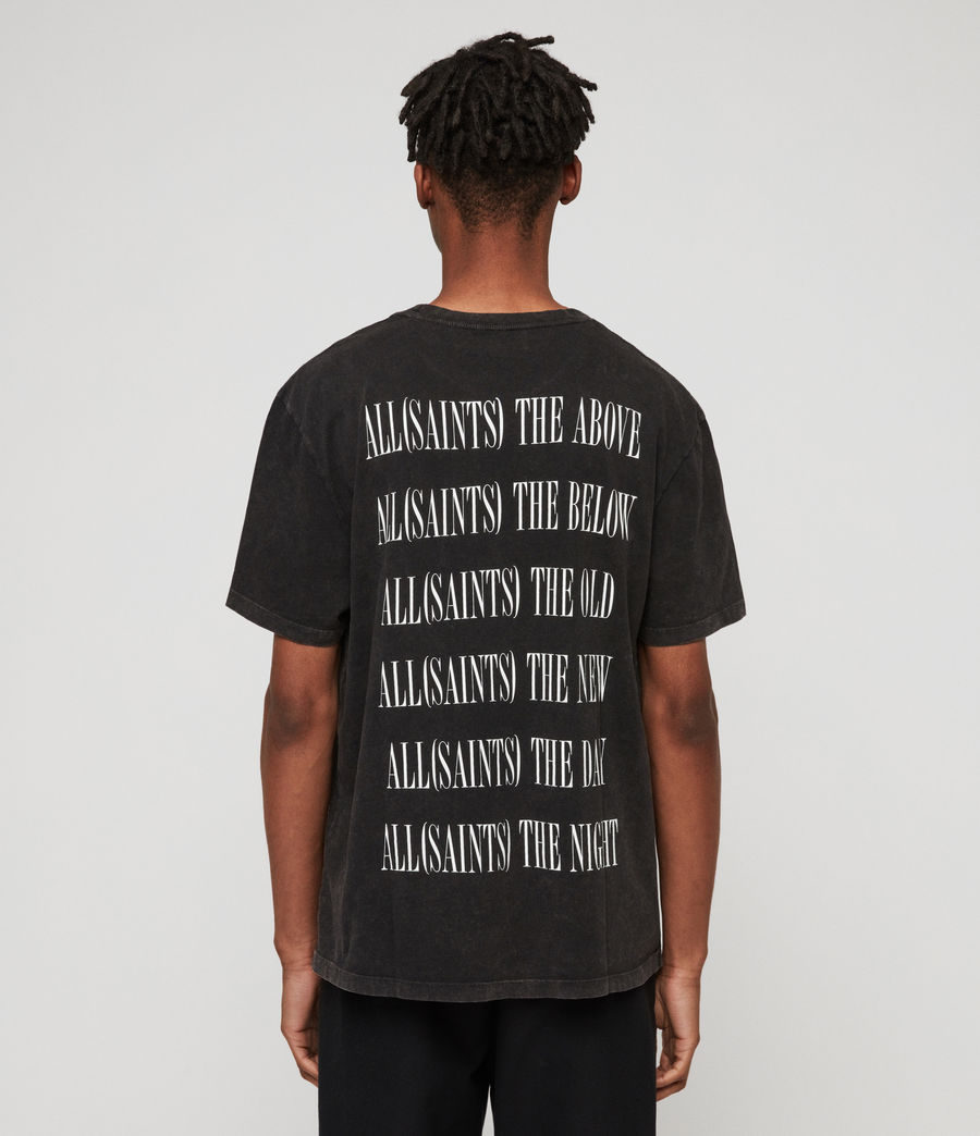 Uomo Brackets Crew T-Shirt (acid_washed_black) - Image 2